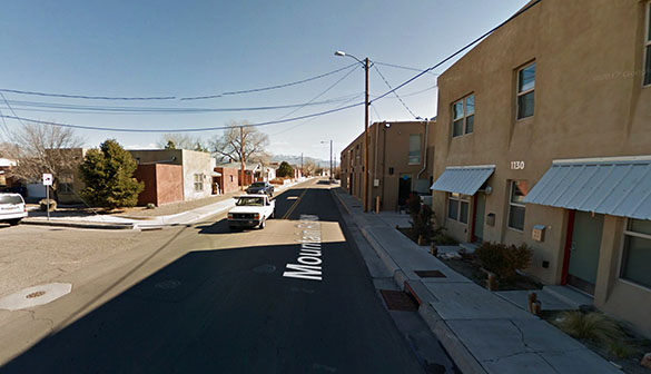 The object seemed to change shape as it moved. Pictured: Albuquerque, NM. Credit: Google.