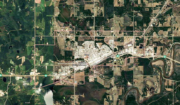The driver eventually released the object was 20 feet over the vehicle as she approached Edson. (Credit: Google)