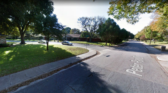 The object began moving closer to the ground. Pictured: Dallas, Texas. (Credit: Google)