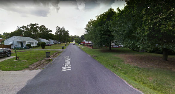 The object stopped and hovered. Pictured: Richmond, VA (Credit: Google)