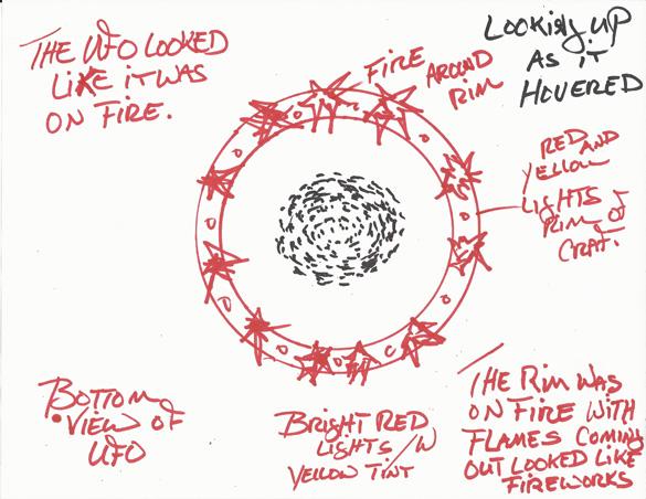 Witness illustration #2. (Creidt: MUFON)