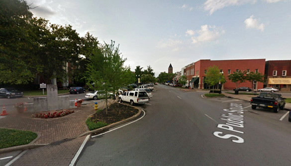 The witnesses thought it was odd that neither craft made any sound. Pictured: Murfreesboro, TN. (Credit: Google Maps)