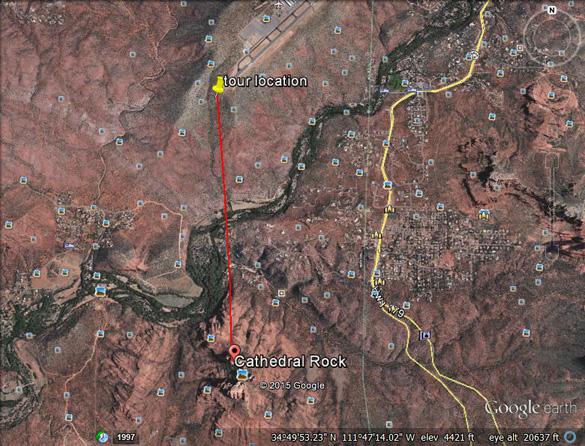 Map of sighting area. (Credit: MUFON)