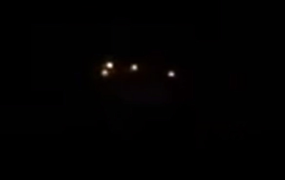 Cropped and enlarged view of the object in the first witness video further into the video. (Credit: UFO and Alien Truth Network)