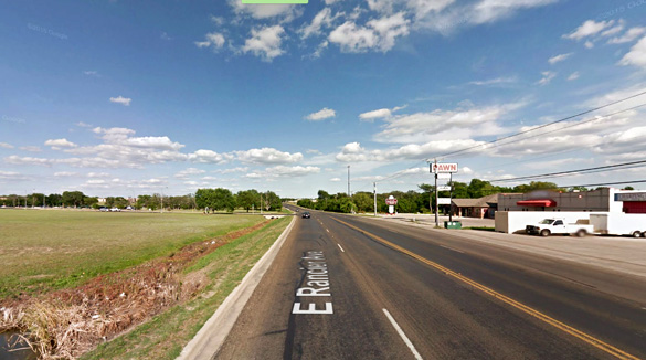 The witness was able to get closer to the object to see that it was a hovering triangle. Pictured: Rancier Avenue in Killeen, TX. (Credit: Google)