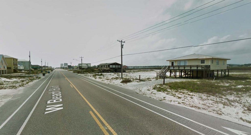 The witness said the object reminded him of the 1997 Phoenix Lights sighting. Pictured: Gulf Shores, Alabama. (Credit: Google)