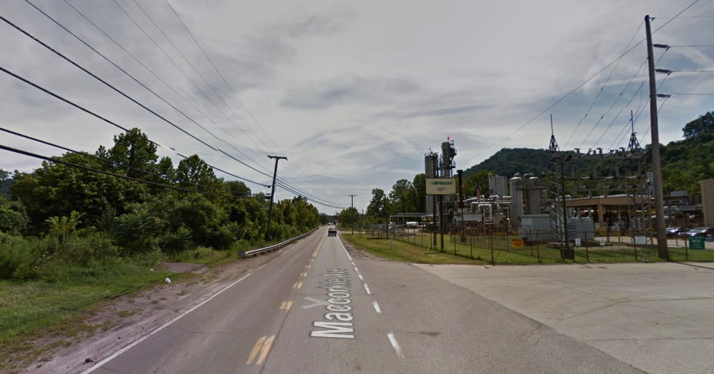 The entire sighting last about 15 minutes as four unknown objects moved overhead. Pictured: Marmet, West Virginia. (Credit: Google)