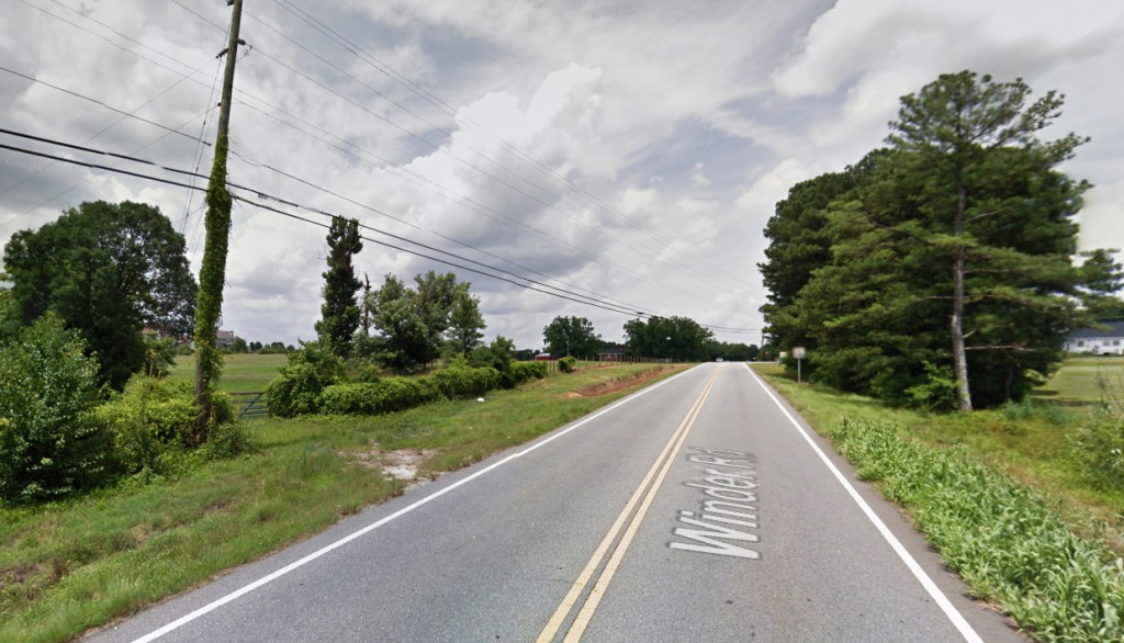The sound of what the witness believed was a Blackhawk helicopter came into the area and seemed to be following the orbs. Pictured: Loganville, Georgia. (Credit: Google)