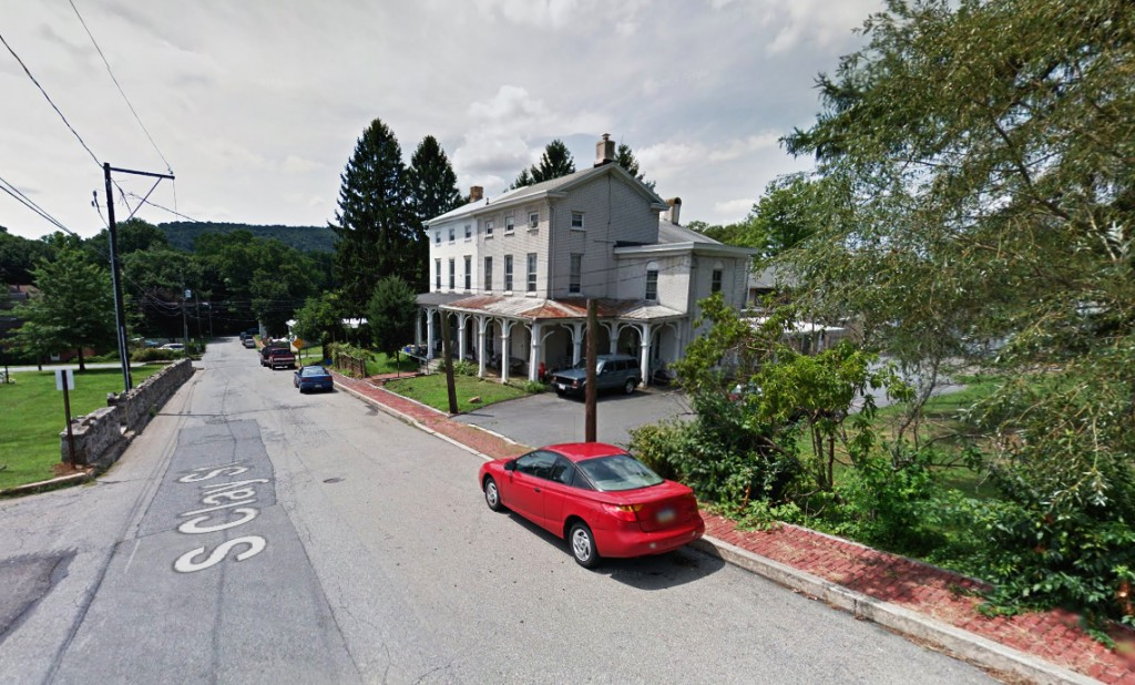 The object was just 40 feet over the witnesses' home and was lighting up the ground beneath it as it crossed the Marietta, Pennsylvania neighborhood. Pictured: Marietta, Pennsylvania. (Credit: Google)