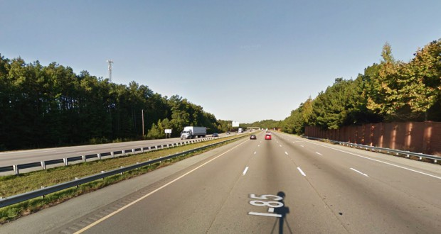 The witnesses watched one object disappear into the horizon, and then suddenly noticed another object nearby. Pictured: Northern Durham, NC, area. (Credit: Google)