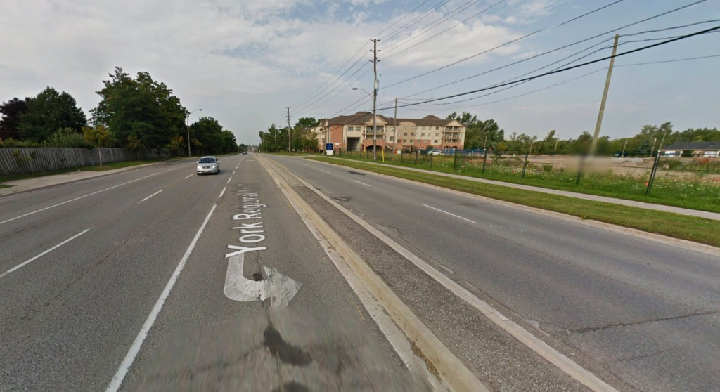 The object was shaped like a door and hovered between 75 and 100 yards above the ground. Pictured: Markham, Ontario, Canada. (Credit: Google)