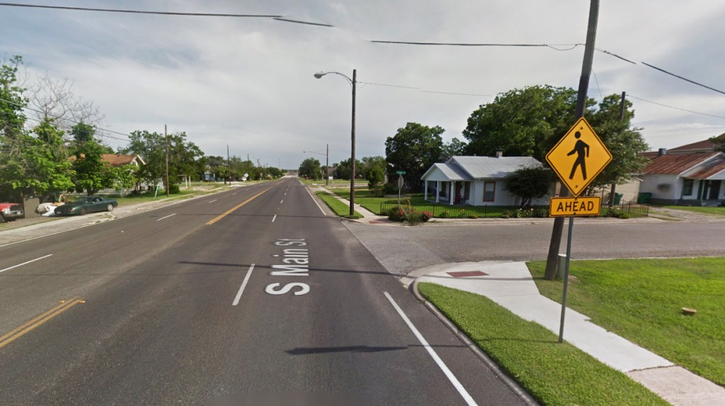 The witness said the rectangle must have been at least 300 feet long with a white or gray stripe lengthwise across its center. Pictured: Taylor, TX. (Credit: Google)
