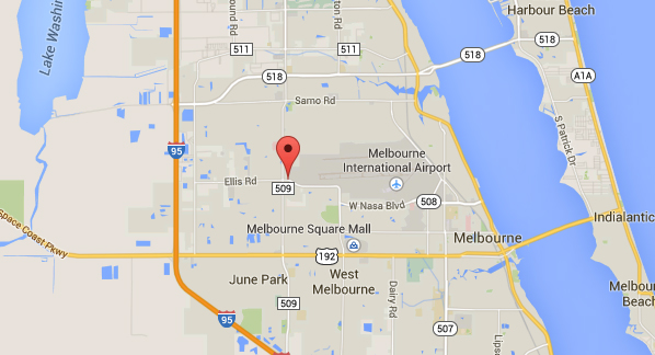 West Melbourne sits just west of Melbourne International Airport. (Credit: Google)