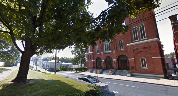 The witness watched orbs move out of the triangle UFO while it hovered. Pictured: Staunton, Virginia. (Credit: Google)