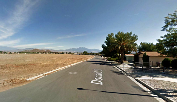 Later the witness saw the unknown object apparently chasing the jet. Pictured: Winchester, CA. (Credit: Google)