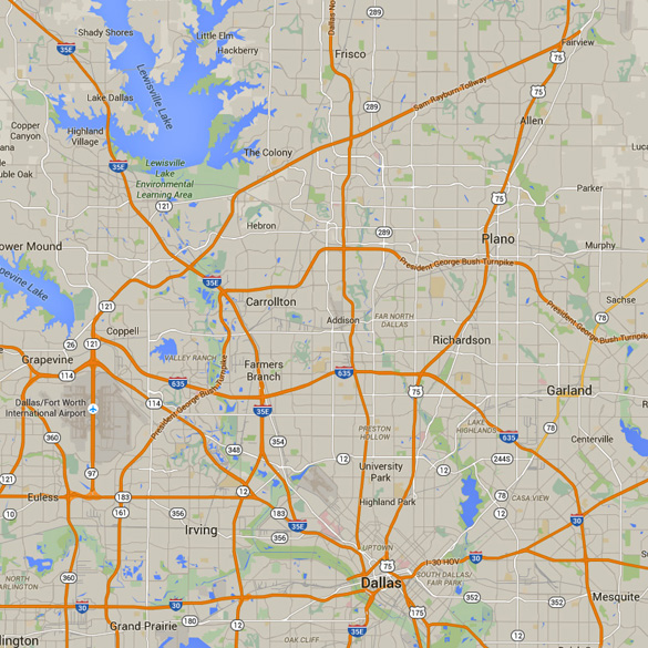 Frisco is about 30 miles north of Dallas, Texas. (Credit: Google)