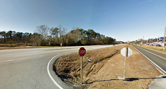 The object passed the witnesses at a quick and steady pace until it was out of view. Pictured: A stretch of Route 70 in Havelock. (Credit: Google Maps)