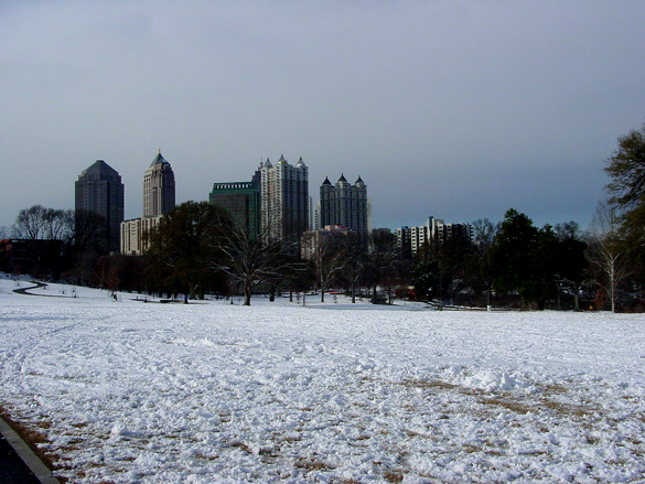 The object shining the light seemed to just disappear. Pictured: Atlanta's Piedmont Park. (Credit: Wikimedia Commons)