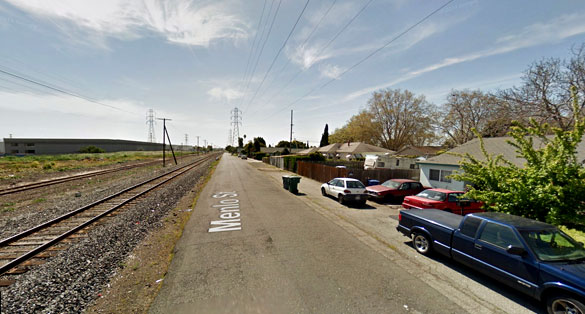 The couple is not sure if the UFO and light events are related. Pictured: San Leandro, CA. (Credit: Google)