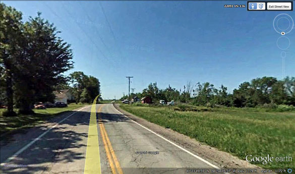The witness later discovered additional witnesses to the same lights. Pictured: Wilcox, MO. (Credit: Google Maps)