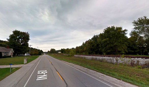 The witness believes the area might be a hotbed of UFO activity. Pictured: New Pekin, Indiana. (Credit: Google)