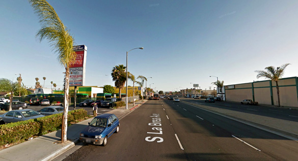 The object did not look like anything the witness was familiar with. Pictured: Inglewood, California. (Credit: Google)