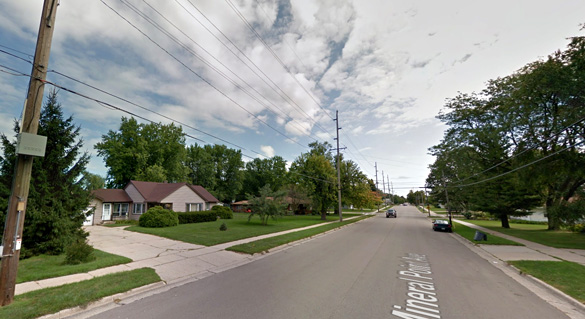 The witness was positive the object was not a military plane. Pictured: Janesville, WI. (Credit: Google)