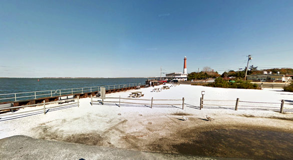 Both UFOs moved quickly away. Pictured: Barnegat Light, NJ. (Credit: Google)