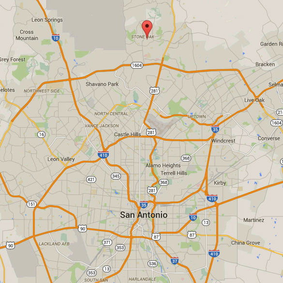 Stone Oak is a northern suburb area of San Antonio. (Credit: Google Maps)