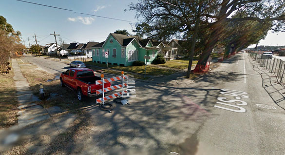Most UFO sightings from the 60s were disc-shaped objects and this witness stated that the object was triangle-shaped. Pictured: Street scene in Jefferson, LA. (Credit: Google Maps)