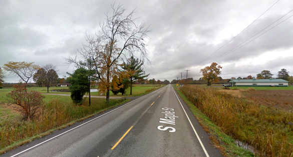The witness suffered a memory loss immediately after the sighting. Pictured: Orwell, OH. (Credit: Google)