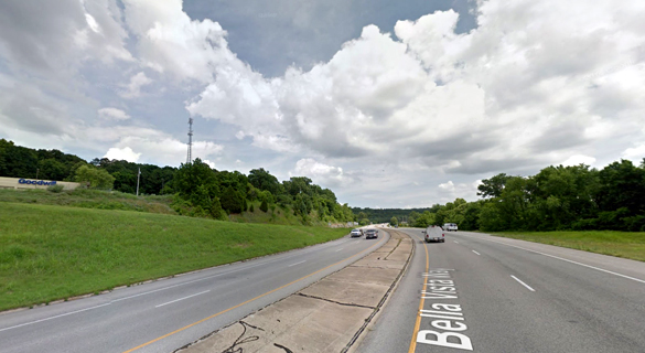 The UFO quickly began to move away from the witness. Pictured: Bella Vista, AR. (Credit: Google)