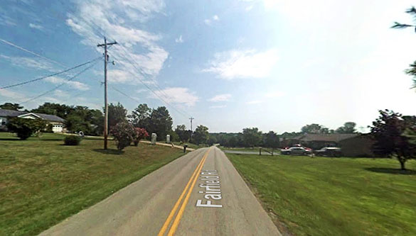 The neighbor reported also hearing someone enter his home late at night. Pictured: Coxs Creek, KY. (Credit: Google)