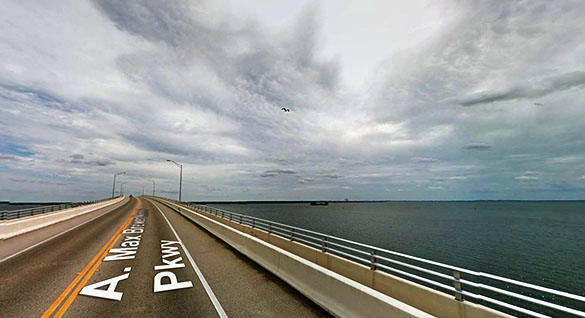 The witness said the light obscured all but a small part of the object. Pictured: Titusville, FL. (Credit: Google)