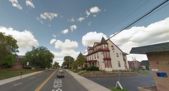 The object omitted a lower humming sound as it moved over. Pictured: Gettysburg, PA. (Credit: Google)