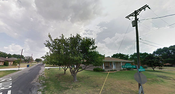 The witness also noticed a bright, white light hovering in the sky above. Pictured: Prosper, TX. (Credit: Google)