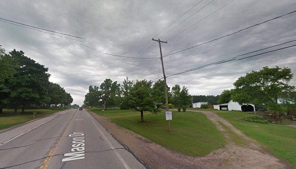 The object was the size of a large exercise ball. Pictured: Grant, MI. (Credit: Google)
