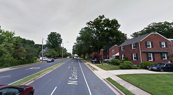 The object had a light configuration that the witness had never seen. Pictured: Alexandria, VA. (Credit: Google)