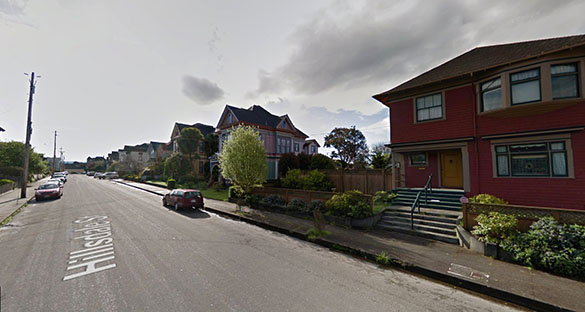 The object seemed to be flat. Pictured: Eureka, California. (Credit: Google)