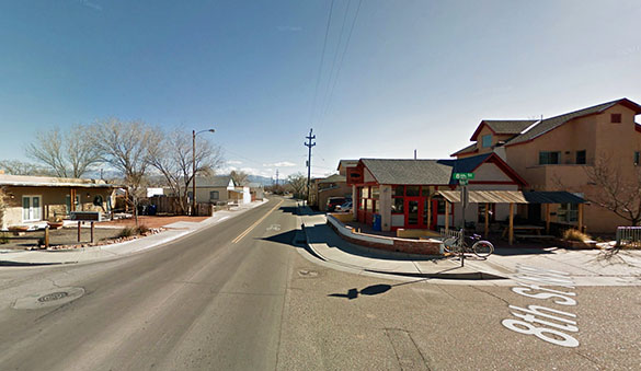 The witness lost sight of the object and did not see it move away. Pictured: Albuquerque, NM. (Credit: Google)