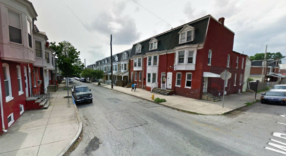 The larger object then flew directly over the witness. Pictured: York, PA. (Credit: Google)