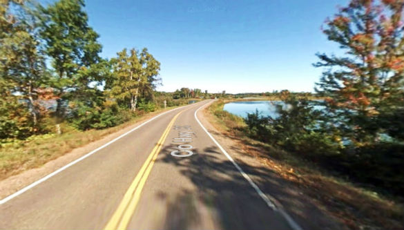 The object hovered over several houses and a golf course for 45 minutes. Pictured: Sawyer County, WI. (Credit: Google)