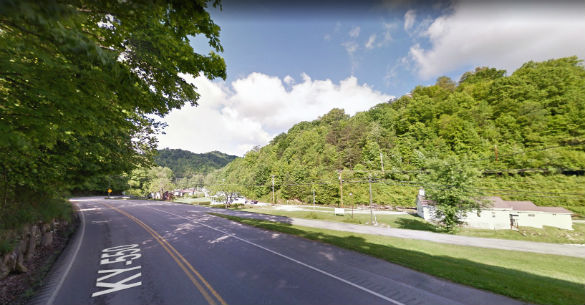 The witness reported that the object could have been as big as 300 feet. Pictured: Hindman, Kentucky. (Credit: Google)