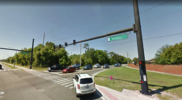 The object seemed to disappear and the witness was unable to find it again. Pictured: Conway Road near the Judge Road intersection. (Credit: Google)