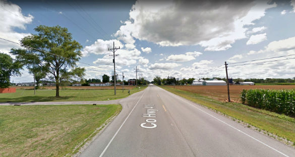 The witness drove by the object and did not stop. Pictured: Delphos, Ohio. (Credit: Google)