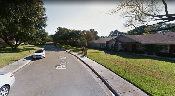 More objects began to appear during the sighting – a total of four. Pictured: Dallas, Texas. (Credit: Google)