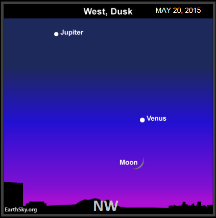 The position of Jupiter and Venus at the time of the sighting. (Credit: EarthSky.org)
