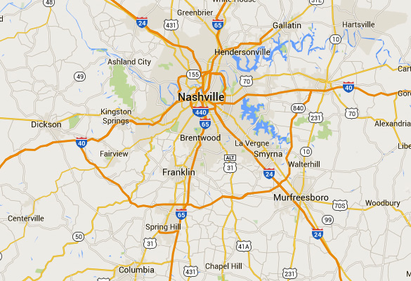 Murfreesboro is 34 miles southeast of Nashville, TN. (Credit: Google Maps)