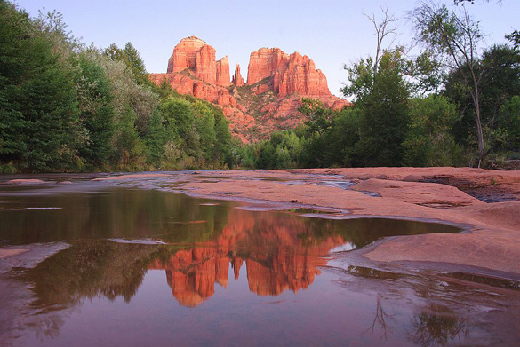 Cathedral Rock from Red Rock Crossing, Sedona, AZ. (Credit: Wikimedia Commons)