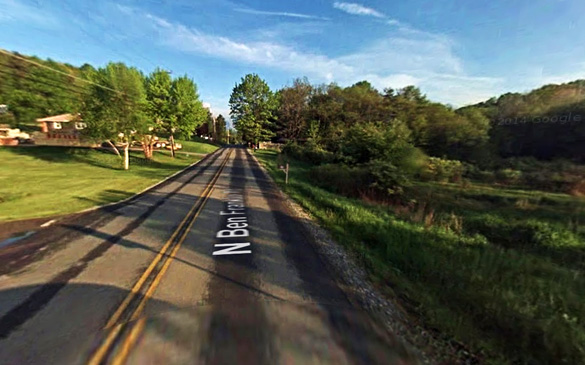 The daughter heard the sounds of nearby footsteps which backs up her mother's encounter with the UFO. Pictured: Indiana, Pennsylvania. (Credit: Google)